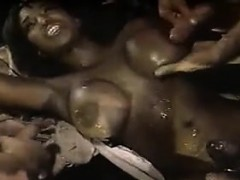 Ebony Mom Gets A Lot Of Cum...